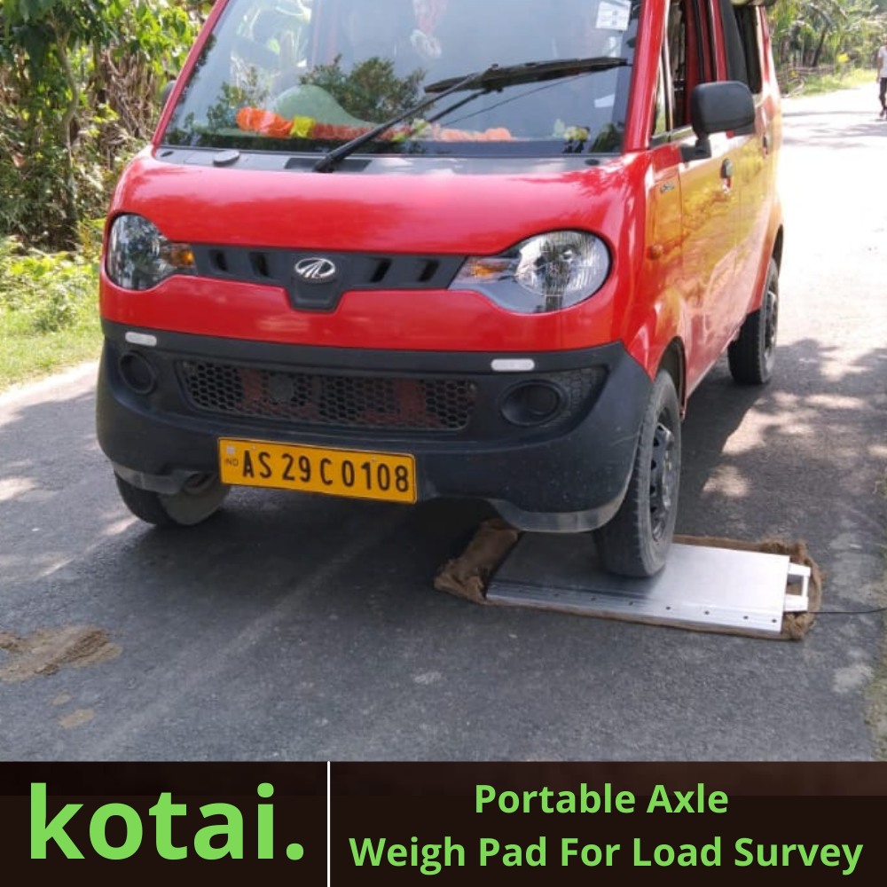 Portable Axle Weigh Pad For Axle Load Survey Buy In India